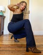 Rag & Bone - Maya - Bootcut-jeans med høj talje i indigo-Blå